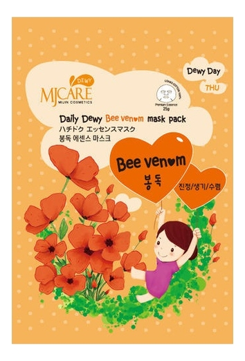 Маска тканевая MJ с пчелиным ядом Care Daily Dewy Bee Venom Mask