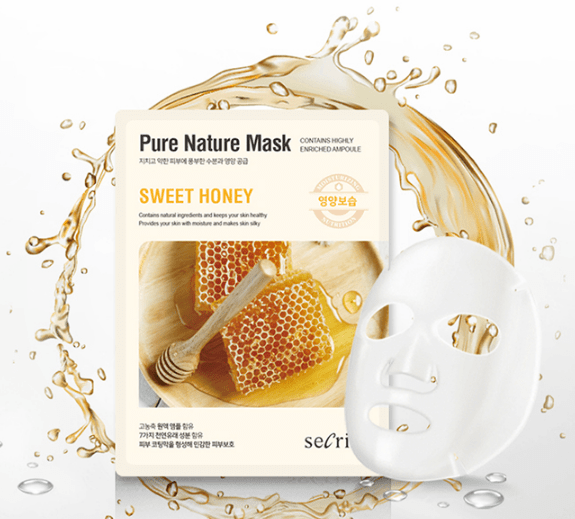 Маска тканевая Secriss Pure Nature Mask Pack-Sweet honey 25м